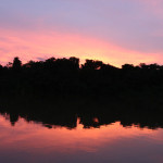 sunset in colombian amazon, 2012