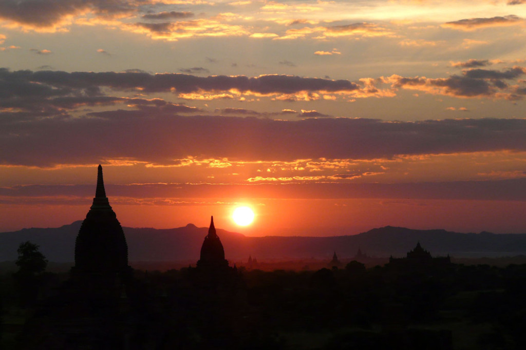 sunset in bagan, myanmar, 2009